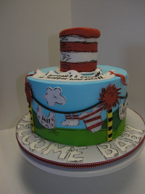 Baby Shower Dr Suess Cakes | Dr. Seuss Baby Shower   Limited Edition Cakes