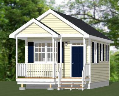 14x28 1 Bedroom House -- #14X28H1 -- 391 sq ft - Excellent Floor ...