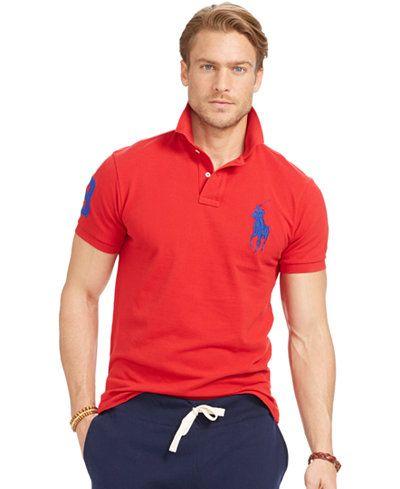 Polo Ralph Lauren Men\u0027s Custom-Fit Big Pony Mesh Polo Shirt