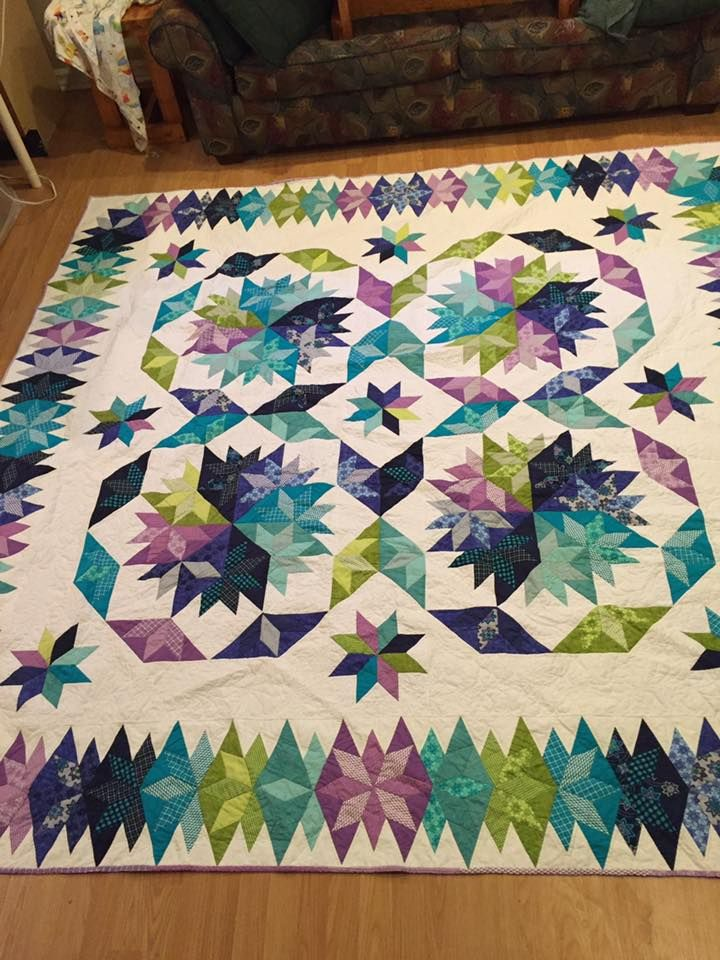 Capistrano quilt made from the pattern in Judy Martin's book, Stellar Quilt. Gorgeous!