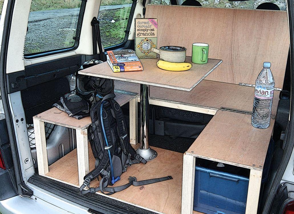 Citroen berlingo peugeot partner camper van conversion for Campervan furniture plans