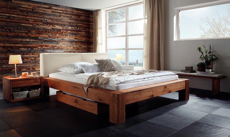 Bett Wildeiche 200x200x96 natur geölt SWISS BEDS #13 Jetzt - schlafzimmer natur