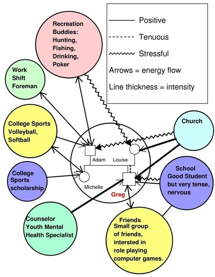 Ecomaps Graphic representation of the systems that are part of