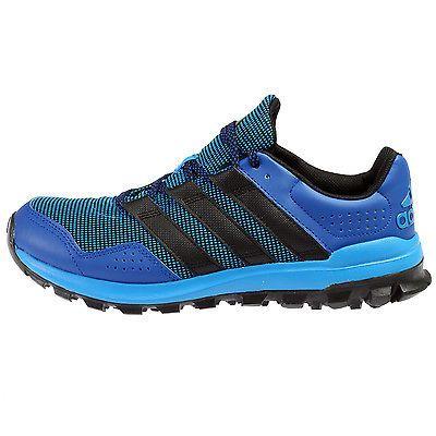 d99c60baf80fb Adidas Slingshot Tr Mens AF6589 Blue Black Trail Running Shoes Sneakers  Size 13