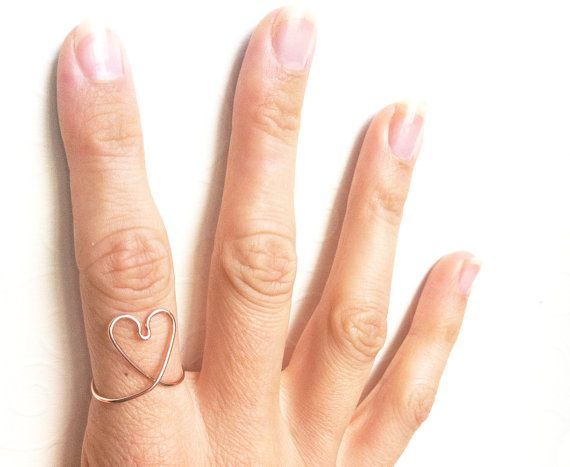 Love Heart Ring 14kt gold filled Rose Gold Wire by MinimalVS