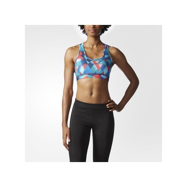 adidas Techfit Printed Bra ($30) ❤ liked on Polyvore featuring activewear, sports bras, black, adidas sportswear, adidas sports bra, adidas, black sports bra and adidas activewear