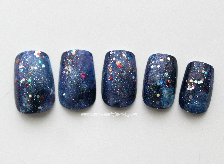 Galactic. Galaxy Fake Nails, False Nails, Celestial, Galaxy, Press ...