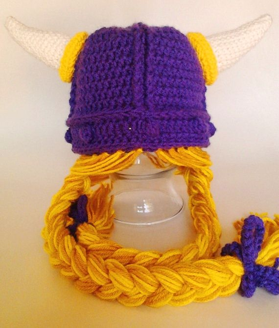 0aa3b237df6 Crochet Viking Hat With Braids (Newborn to Adult) Do you like it or you  love it