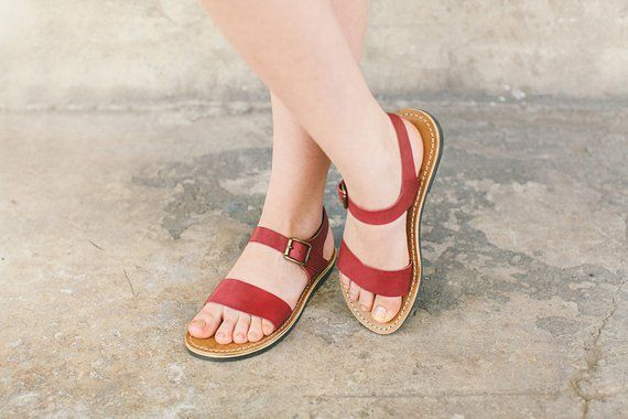 0db16e539659e Leather Sandals, Bordo Leather Sandals, Gladiator Sandals, Women's ...