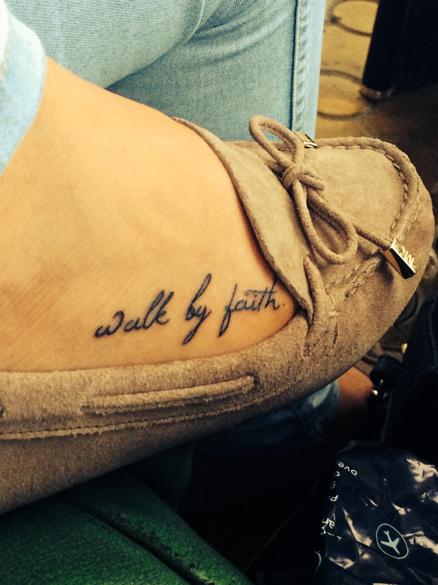 Tattoo ideas small walk by faith foot shoes Foot