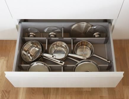 Pan Drawer Divider Kit With Sides Offers A Clever Kitchen Storage Solution To Divide Easily Pans