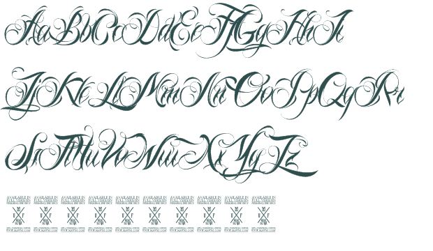 ... | Calligraphy Fonts, Script Fonts and Calligraphy Tattoo Fonts