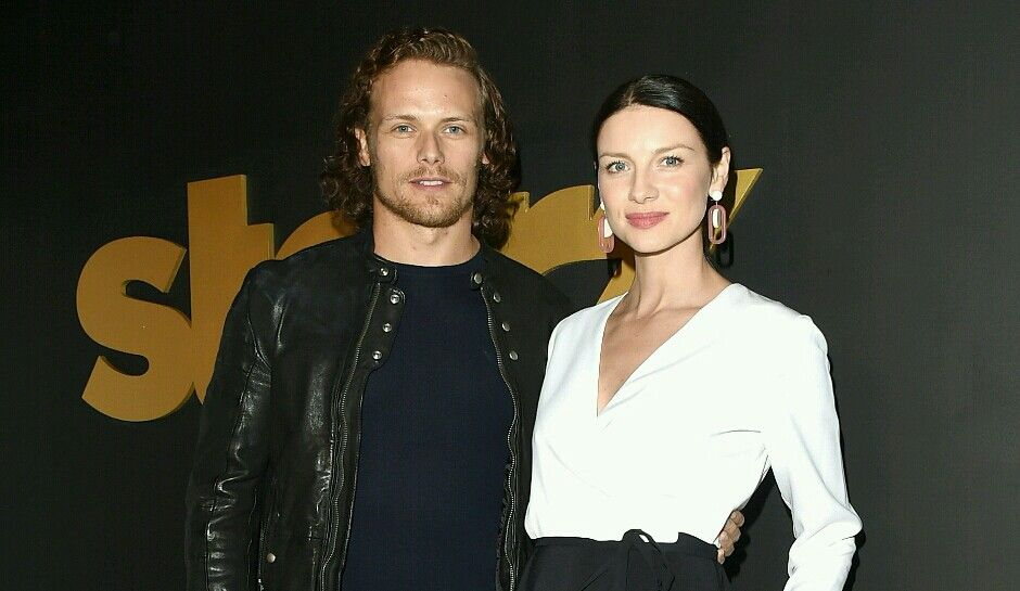 Outlander stars SamHeughan and CaitrionaBalfe address
