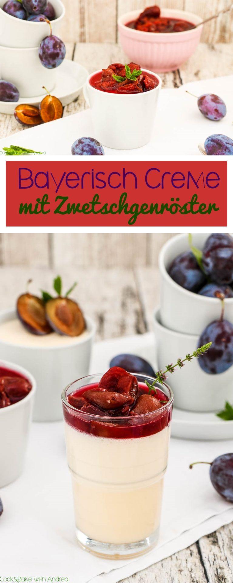 Bayerisch Creme mit Zwetschgenröster | Bayerische creme ...