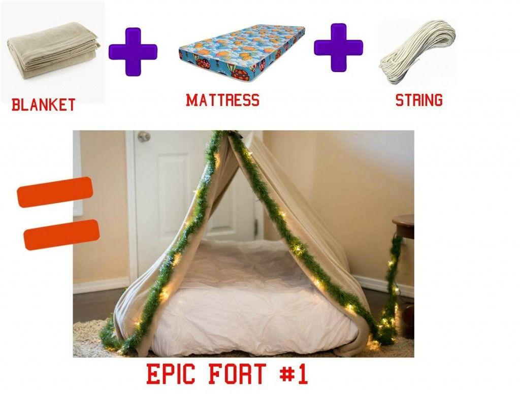 3 Easy Diy Forts Using Household Items Diy Blanket Fort Diy