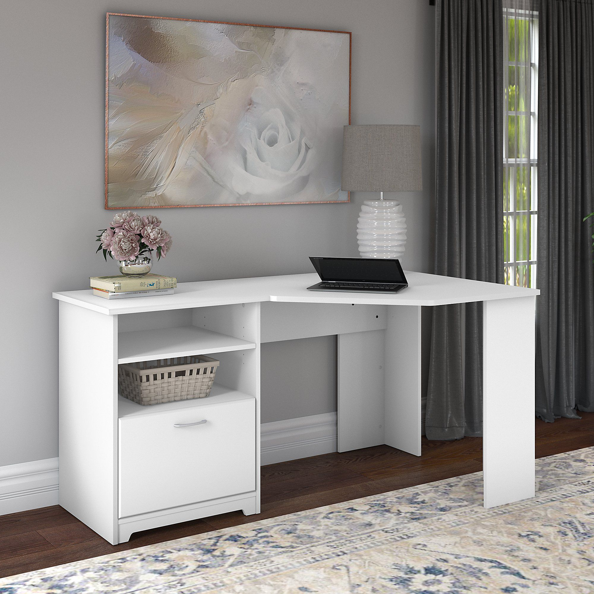 Bush Furniture Cabot 60w Corner Desk Walmart Com In 2020 Corner Desk Bush Furniture Desk