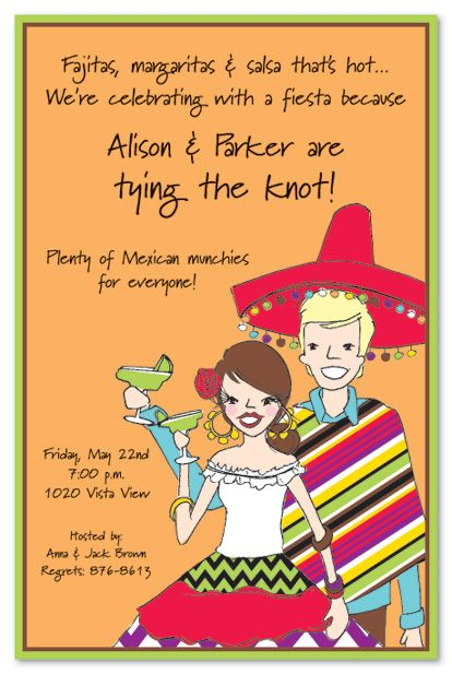 Fiesta Couple Party Invitations By Inviting Company