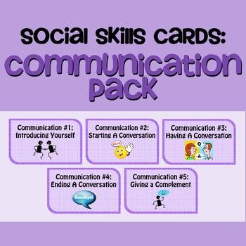 Social Skills Cards Communication Skills Pack  Counselling