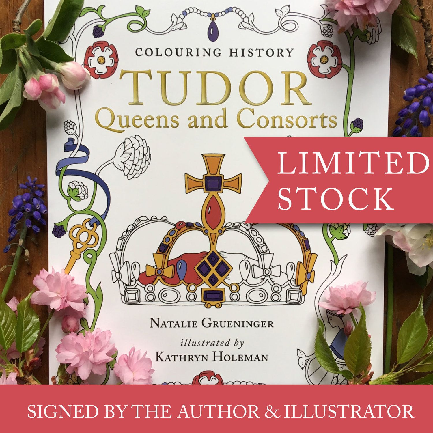 Photo of Tudor Queens and Consorts signed copy — Colouring Tudor History