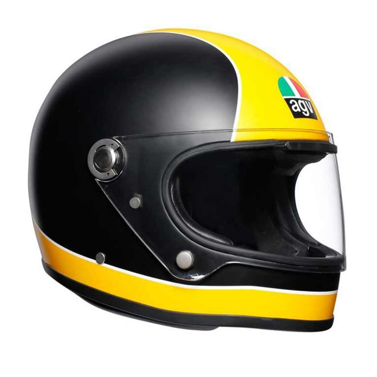 1591d4b3b9a84 AGV X3000 Super AGV in matt black   yellow. Retro full face motorcycle  helmet with ECE made in Italy.