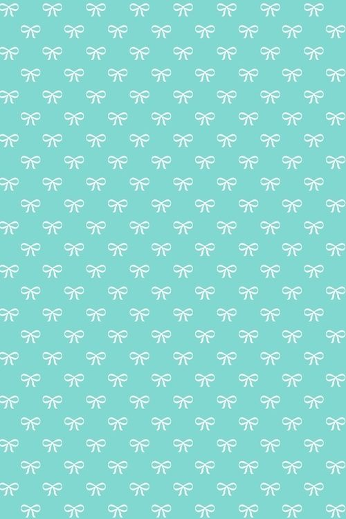 Little White Bows Girly Cute Blue Phone Bows Pattern Wallpaper Teal Backgrounds Seamless Tiffany Blue Wallpapers We Heart It Wallpaper Teal Wallpaper