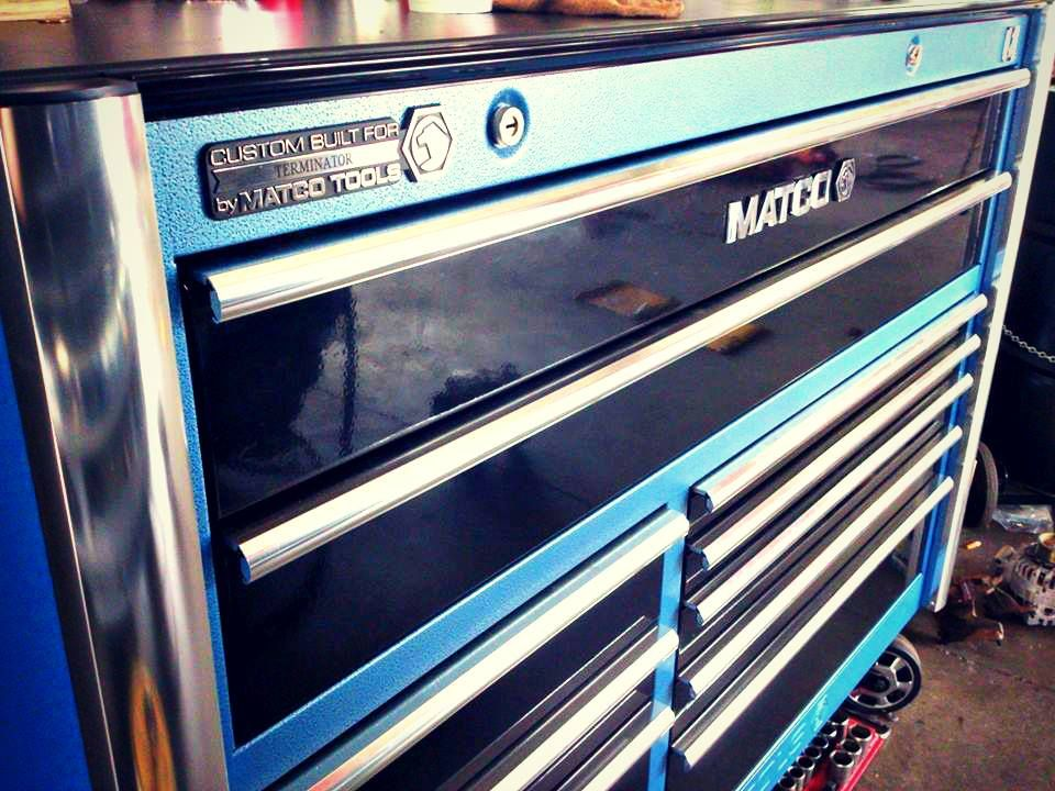 Toolbox of the day black blue toolbox of the day for 3 bay garage cost