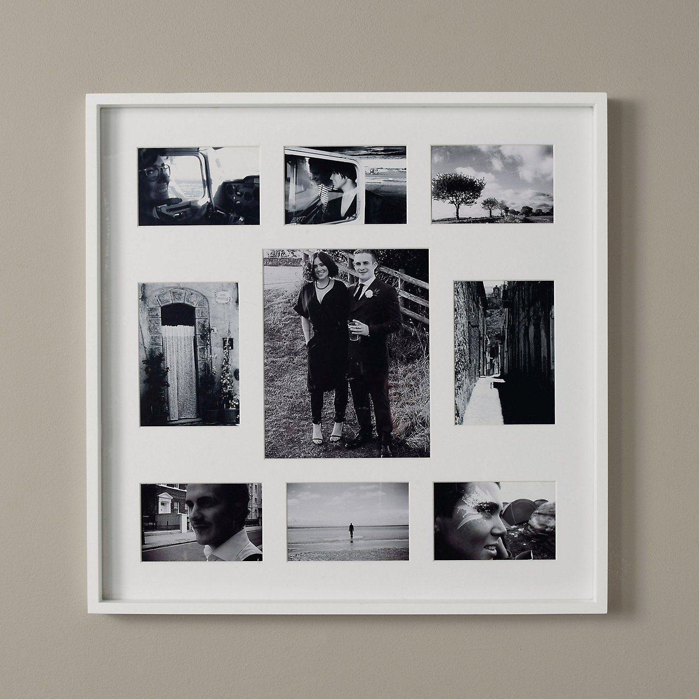 Slim Wooden Photo Frame 9 Aperture - White | The White Company ...
