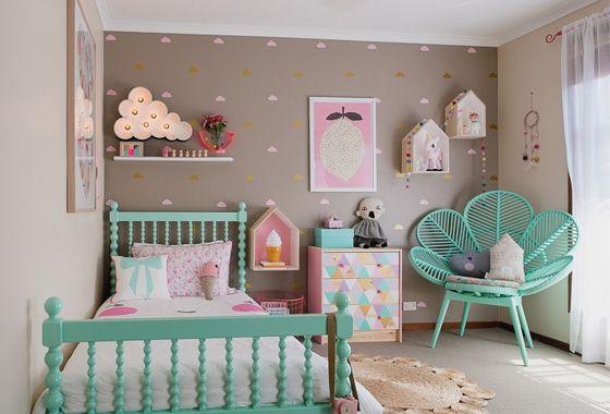 Chambre colorée pour petite fille. | Chambre colorée, Petite fille ...