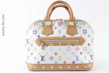 luxuryforyou.ch - first class second hand - Louis Vuitton Alma PM Multicolore Weiss M40444