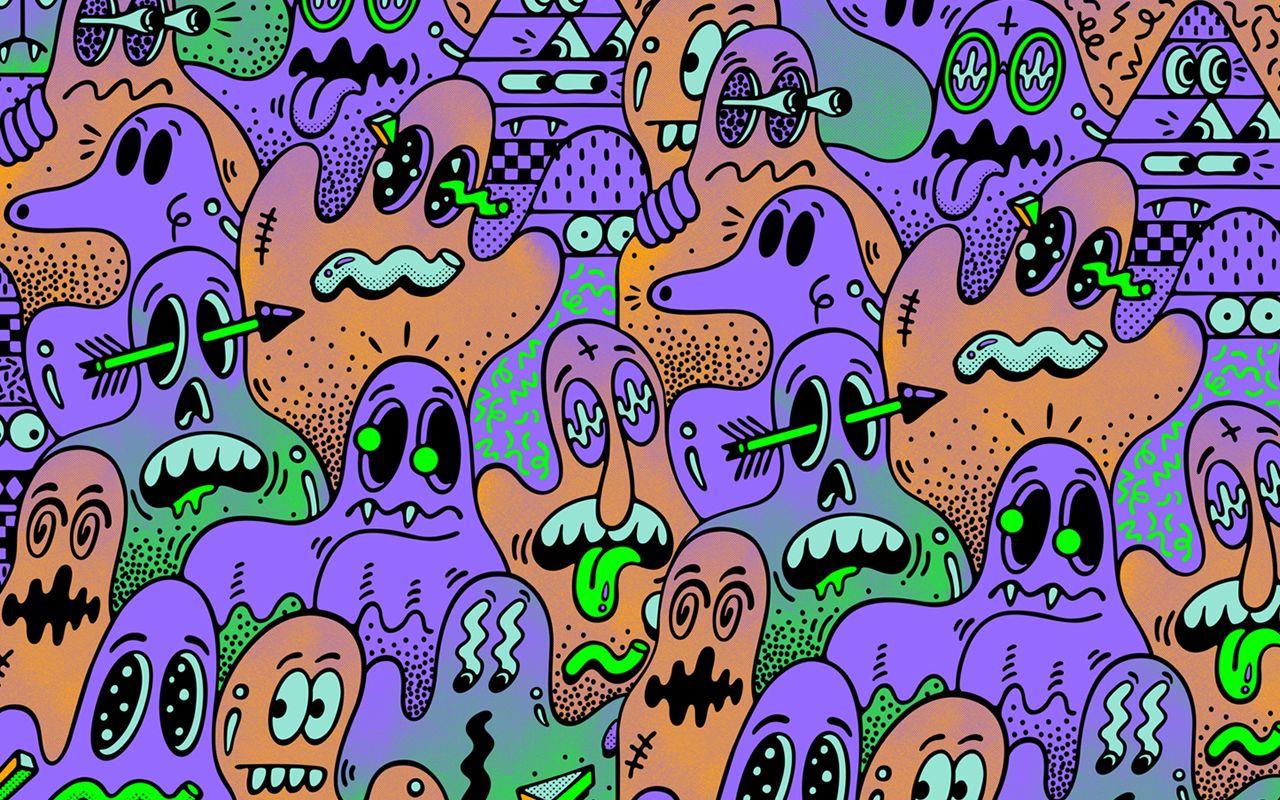 Steven Harrington Desktop Wallpaper Art Aesthetic Desktop Wallpaper Halloween Desktop Wallpaper