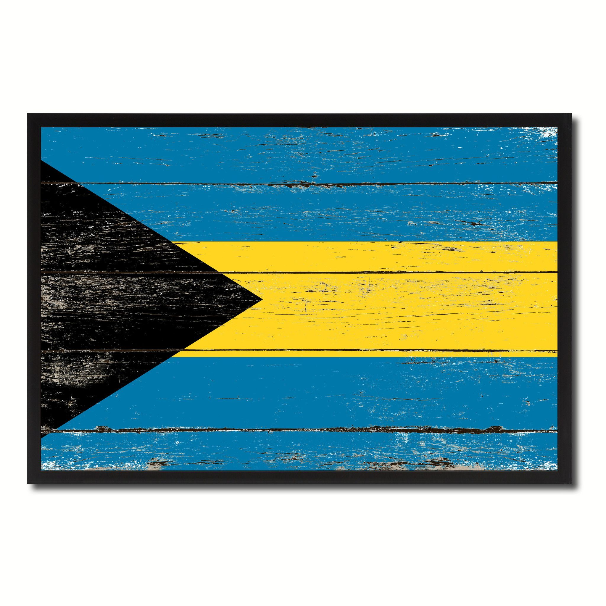 Bahamas Country National Flag Vintage Canvas Print with Picture ...