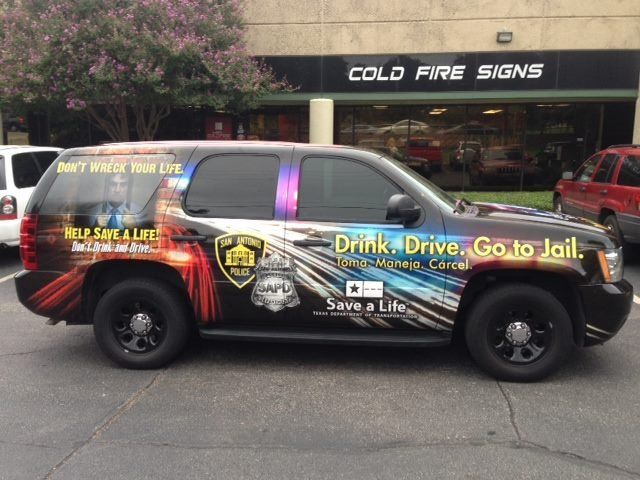 Police Department Wrap Fire Signs Jail Car Wrap