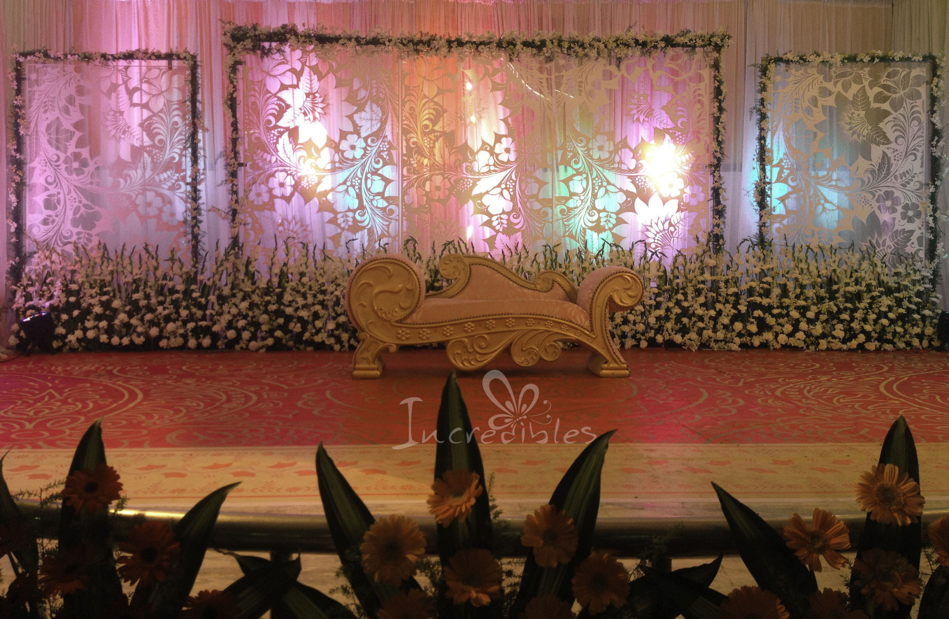 This Stage Decoration Is Done In Chidambaram For Reception Done By