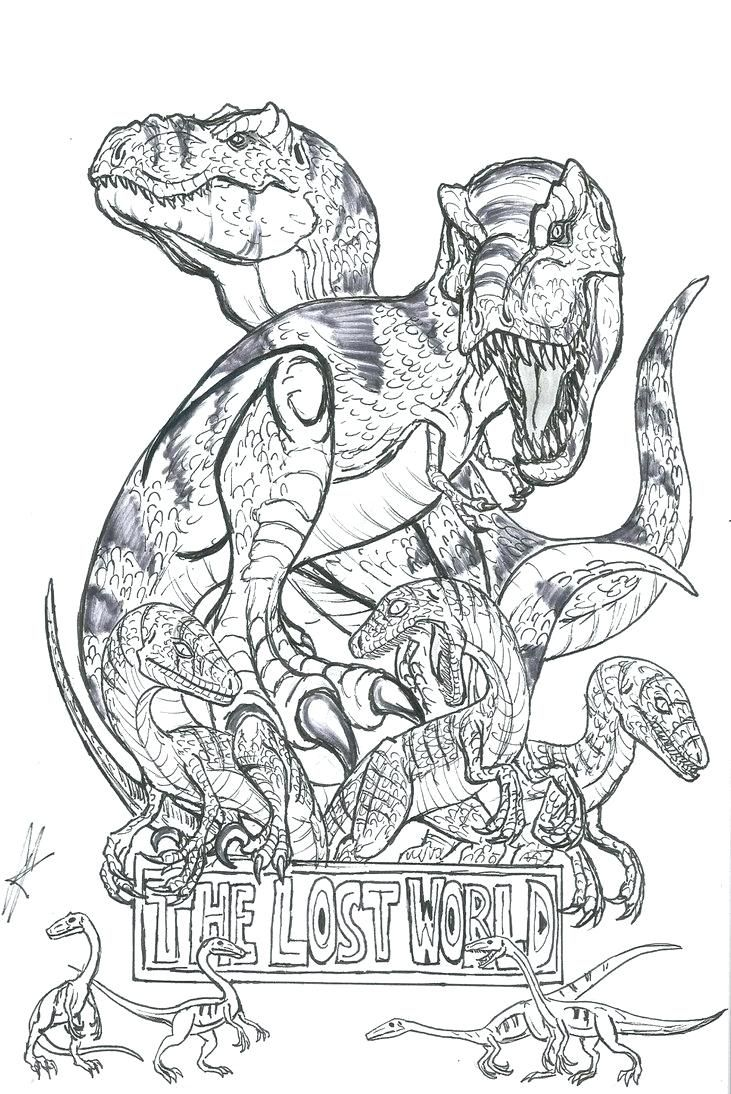 Coloring Page Velociraptor Simple Funny Dinosaur Pages World Free Park Of Printable T Lego Raptor