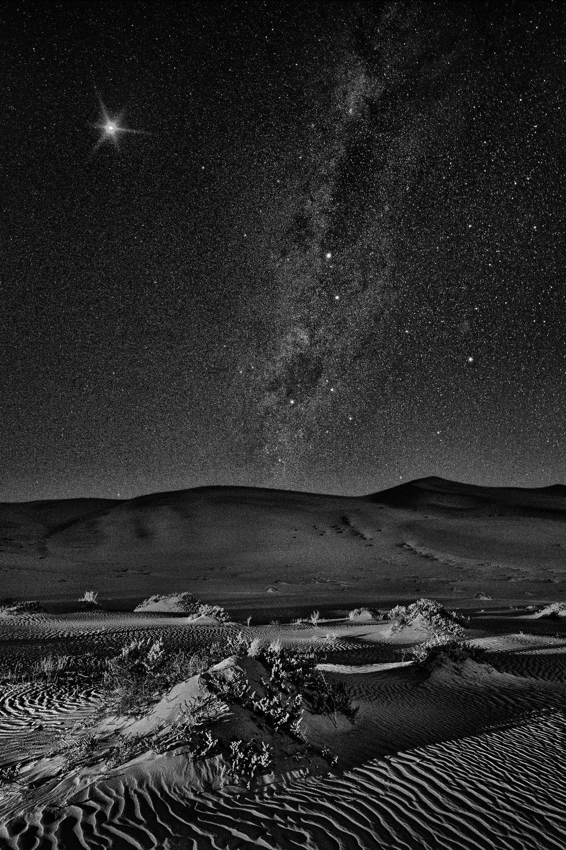 Photos When Adventure Happens In The Dark Night Landscape Namib Desert Photo