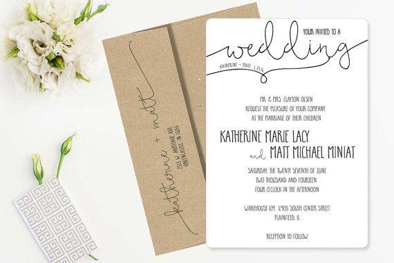 18 Simple Inexpensive Wedding Invitations Pinterest