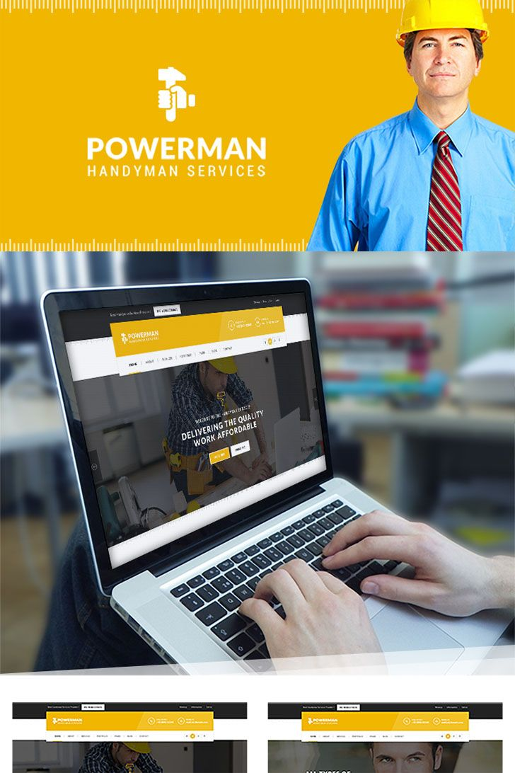 POWERMAN is an Elegant, Clean & Modern Wordpress theme. It suits any kind of handyman Services and business websites like Plumbers, Carpenter workshops, Maintenance services, Construction, Welding, Architecture, Cleaning services, Mechanic workshops, Renovation business, Electricity or Power Companies, Logistics or Moving companies.