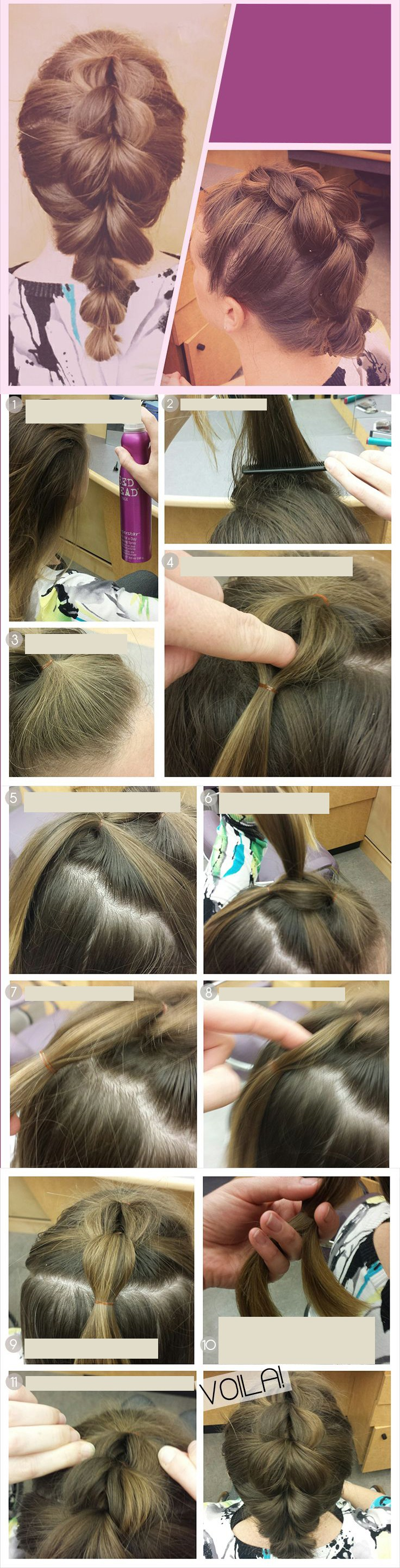Faux fishbone braid Braided Hairstyles Pinterest Fishbone