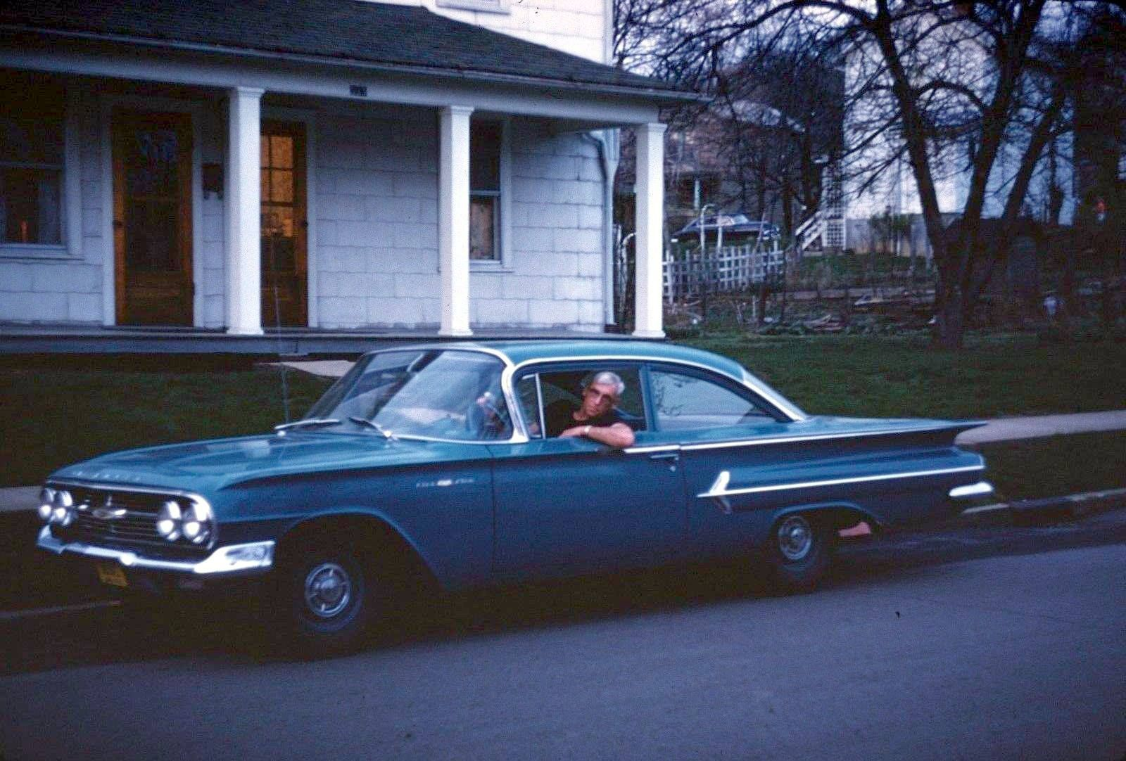 Chevy Bel Air & Driver, somewhere in Erie County (1960