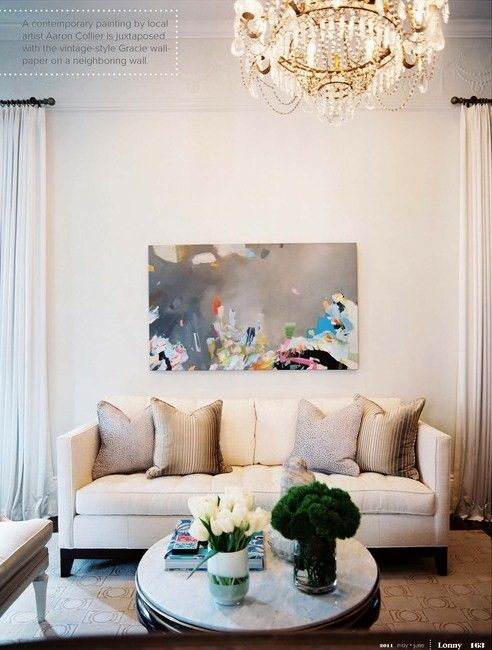 Gorgeous Living Room Decor White Cream Off White Decorating Art Abstract Painti Wall Decor Living Room Living Room Decor Room Decor