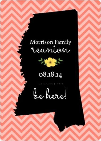 Family Reunion Save The Date Wording Ideas, Invitations Iowa
