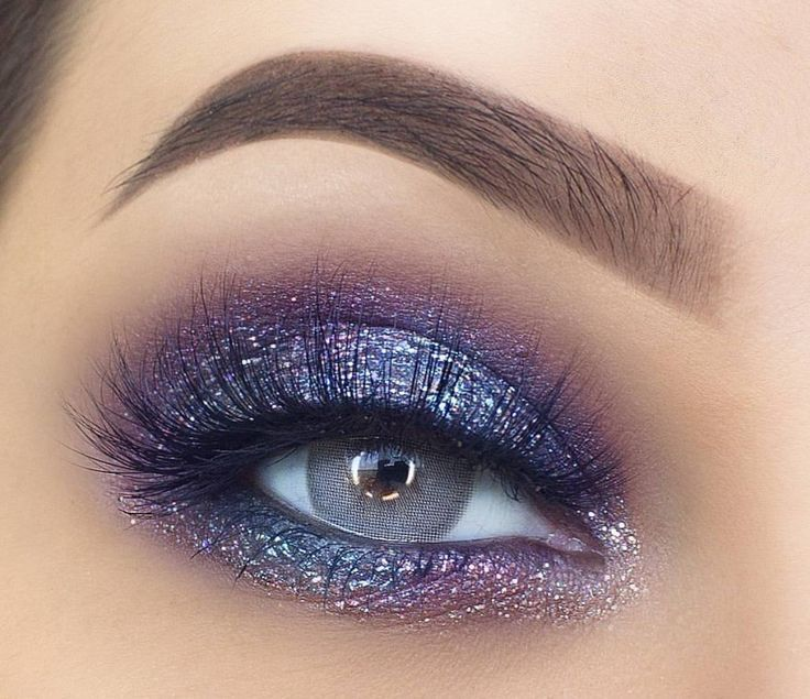 Photo of Beautiful metallic gray with a hint of pink and purple. So pretty. «- #a #hauch … – Eye makeup looks – HacikoBlog