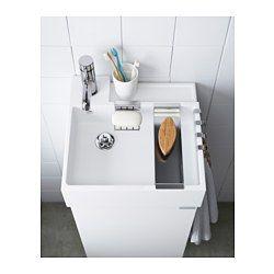 LILLÅNGEN Waschbecken/1, weiß - weiß - 40x41x13 cm - IKEA