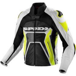 Spidi Warrior 2 chaqueta de cuero para moto negro amarillo 46 Spidi
