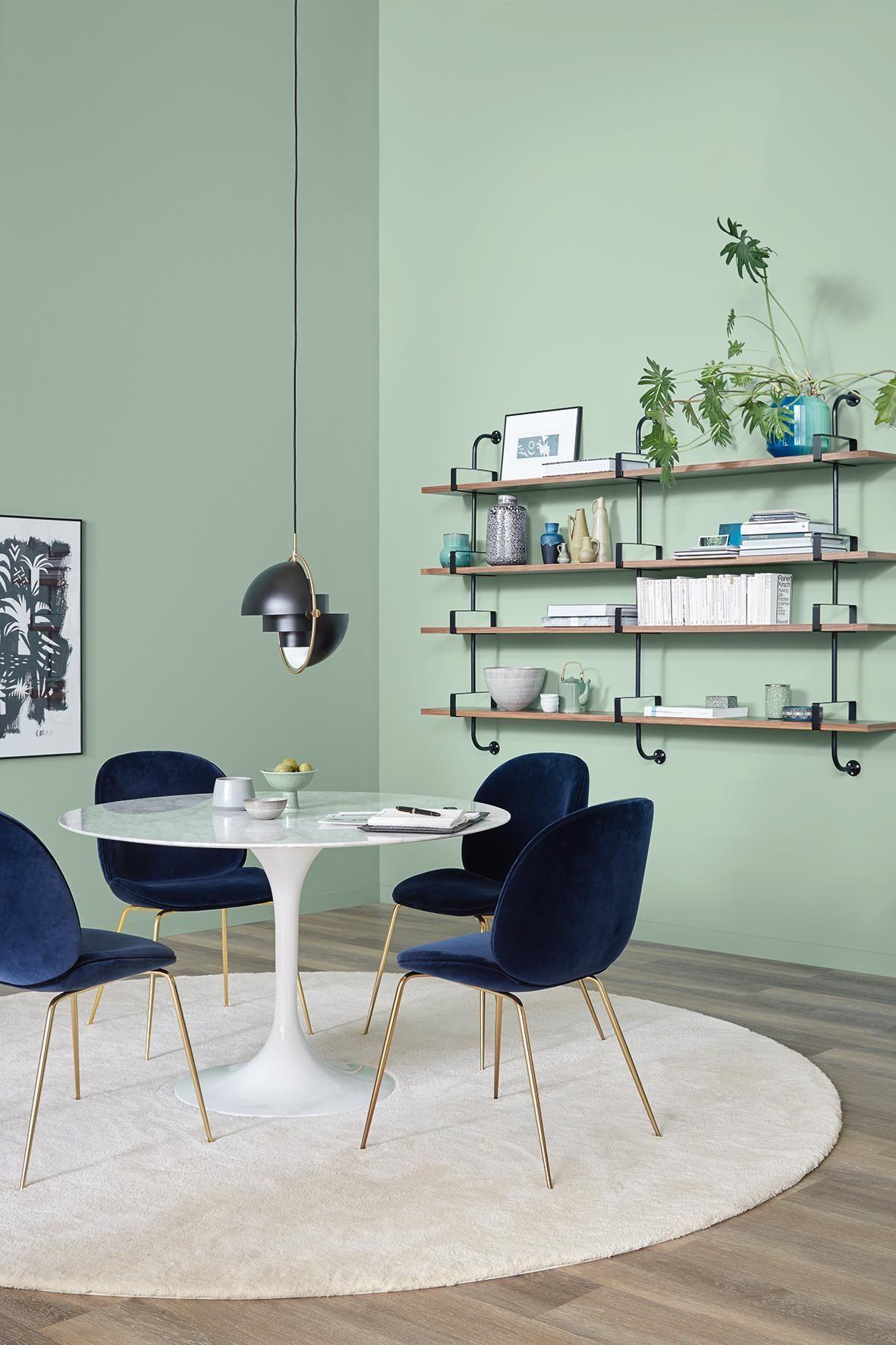 Spa Schoner Wohnen Trendfarbe Wandfarbe Regal Teppich Esstisch Wandgestaltung Tu Schoner Wohnen Wandfarbe Schoner Wohnen Farbe