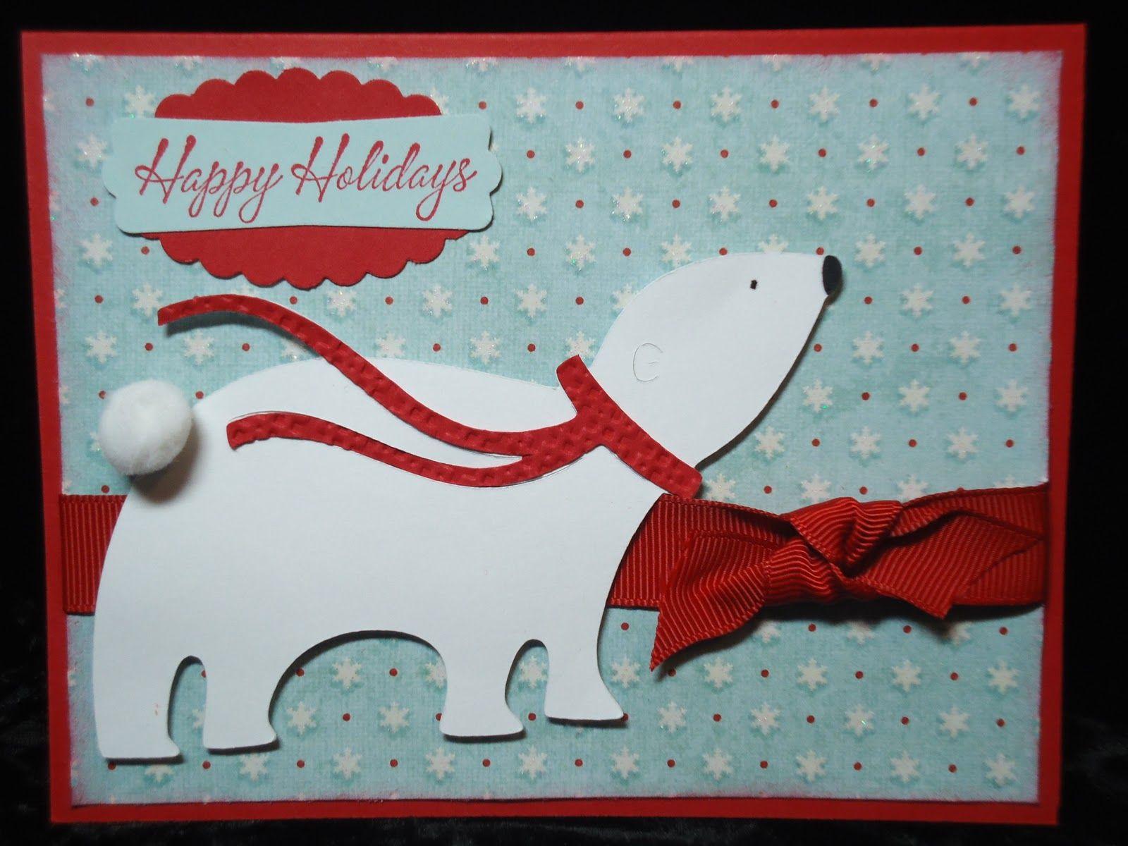 christmas cards made with joys of the season | Polar Bear was cut at ...