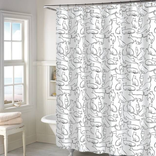 Product Image For Cats Shower Curtain In White With Images Cat