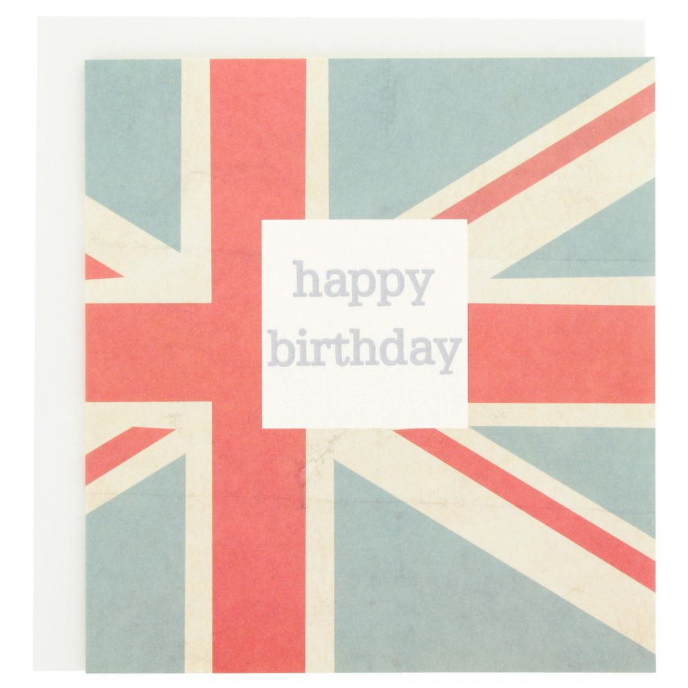 Birthday card featuring union jack from Paperchase birthdaycards – Paperchase Birthday Cards