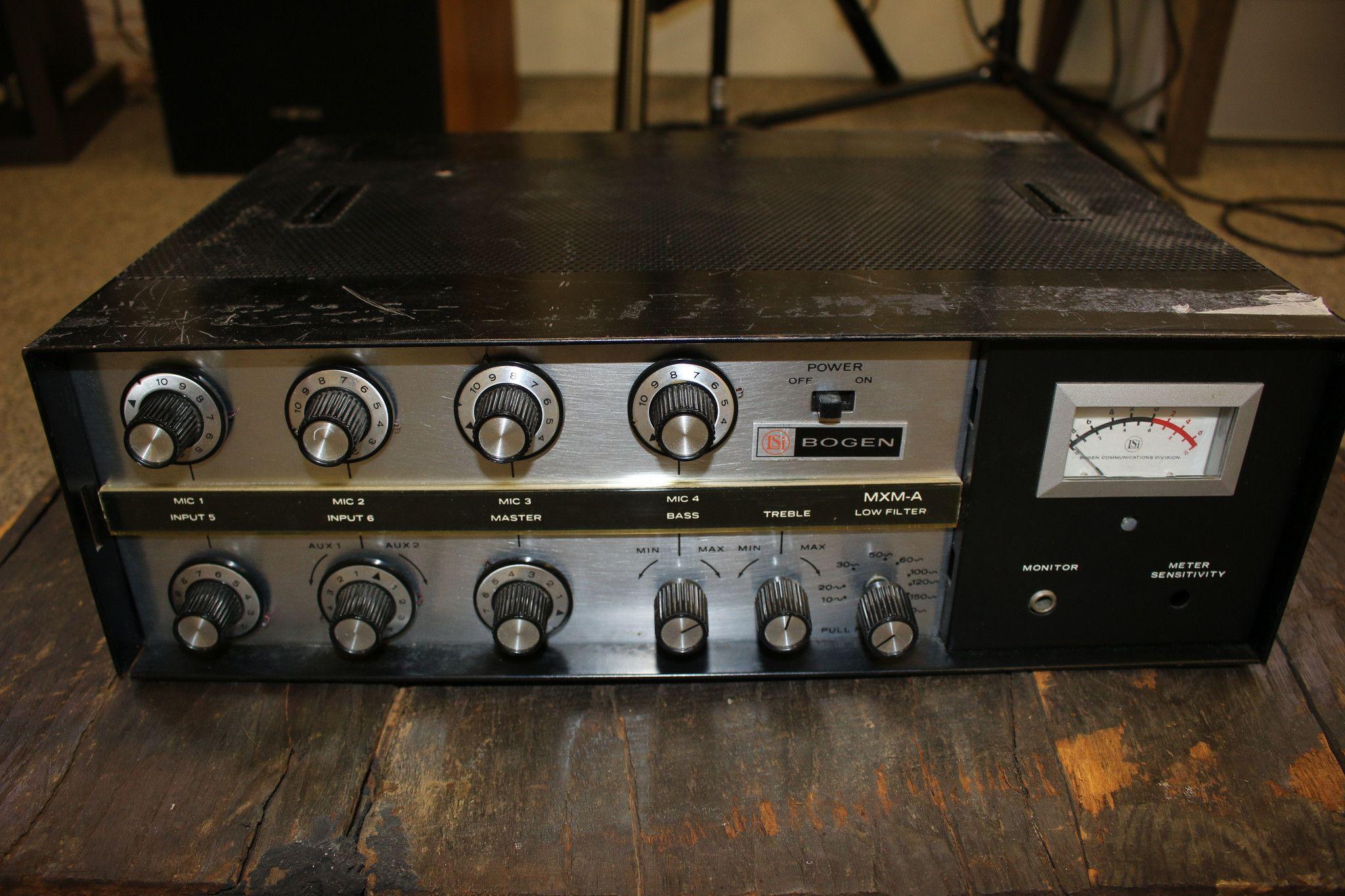 Bogen Mxm A Black Microphone Mixer Preamplifier Tube Audio Band 2