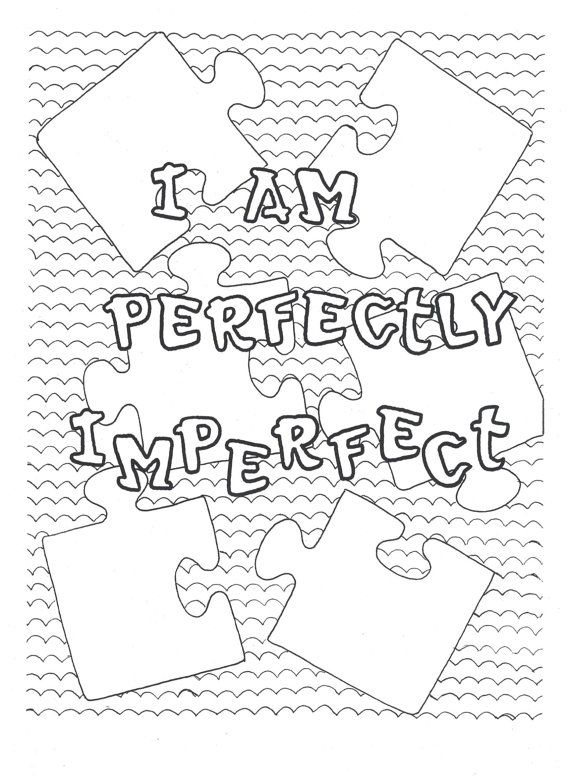 I am perfectly imperfect coloring
